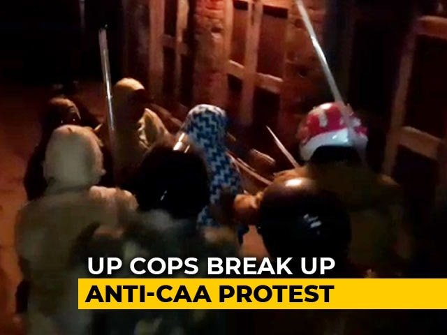 Video : On Camera, Women At CAA Protest In UP Chased, Thrashed By Cops