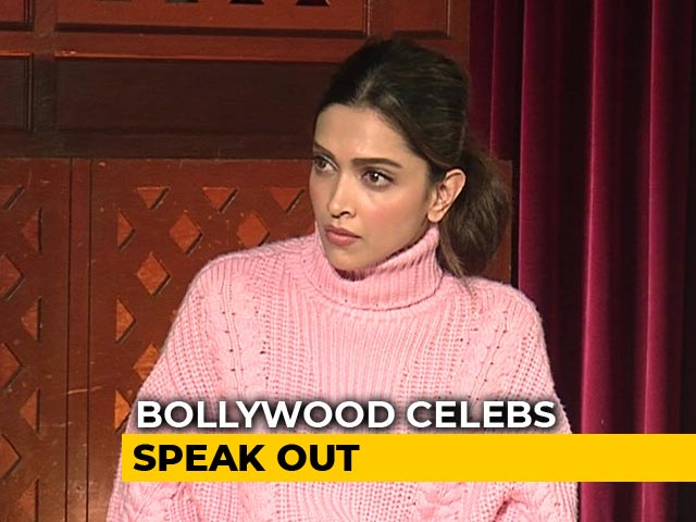 "Video : ""Proud That We Aren't Scared"": Deepika Padukone On Protests Across India"