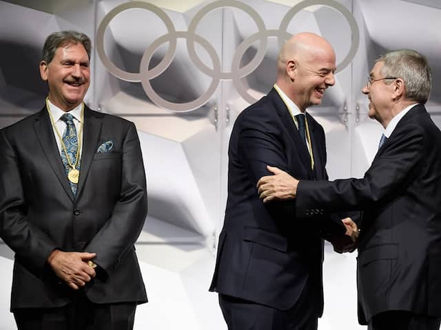 FIFA President Gianni Infantino Takes Sepp Blatters Empty Seat At IOC