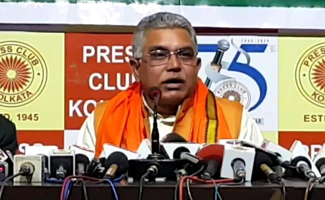 'Can't Be A Leader Unless You Go To Jail': Dilip Ghosh To BJP Workers