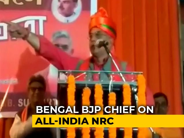 Video : Will Send Back 1 Crore Illegal Muslims From Bengal: State BJP Chief