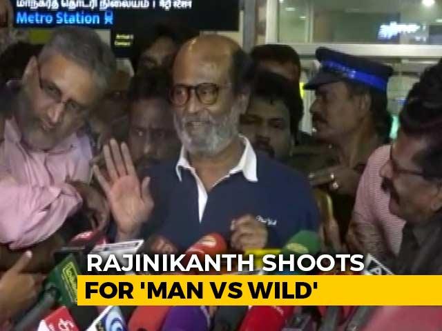 Video : 'Some Scratches... I'm Alright': Rajinikanth On 'Man vs Wild' Shoot
