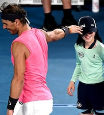 Watch Nadal's Adorable Gesture After Accidentally Hitting Ballkid On Head