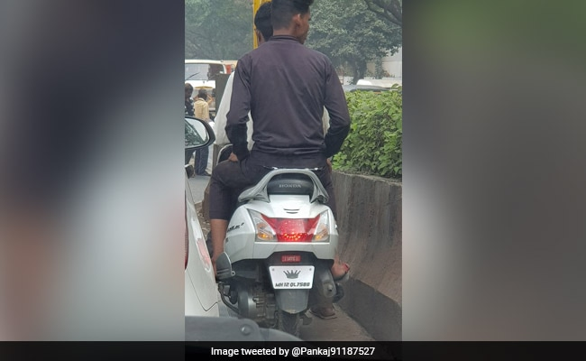 'His Highness...': How Pune Police Reacted To A Number Plate With Sticker
