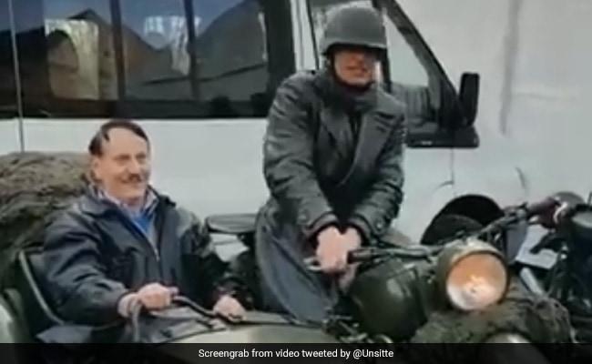 Watch: Man Dressed As Hitler Rides Around Germany In Motorbike Sidecar