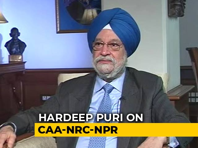 "Video : ""You Believe The PM Because He's The Boss"": Minister Hardeep Puri On NRC"