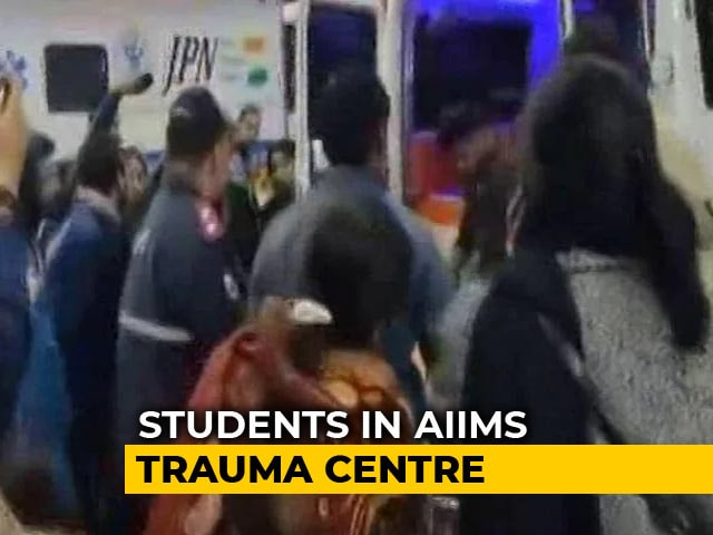 Video : 20 Students Admitted To AIIMS As Violence Breaks Out In JNU