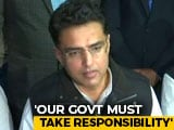 "Video : ""Be Compassionate"": Sachin Pilot's Advice To Congress Amid Kota Deaths"