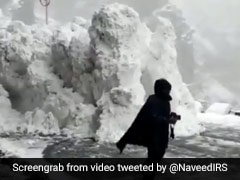 On Camera, Tourists Rush To Escape Avalanche On Himachal Road