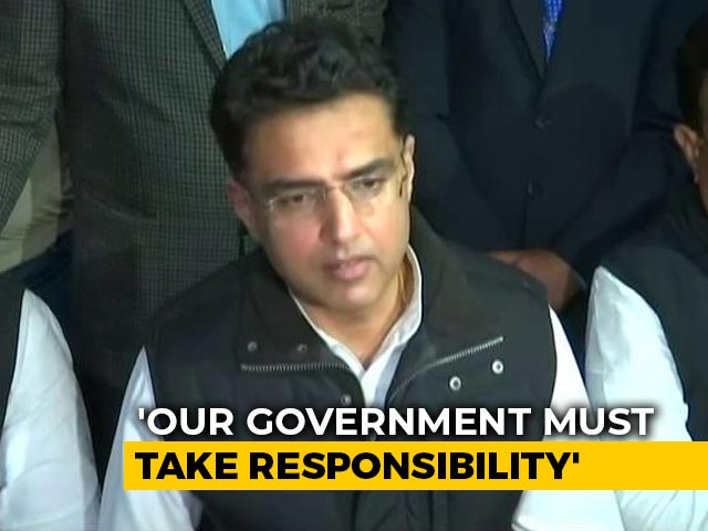 """Video : """"Be Compassionate"""": Sachin Pilot's Advice To Congress Amid Kota Deaths"""