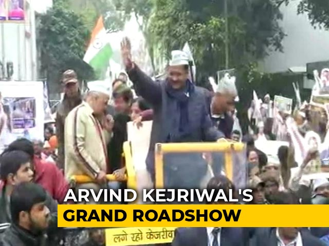 Video : Arvind Kejriwal's Big Roadshow Before Filing Nomination For Delhi Polls
