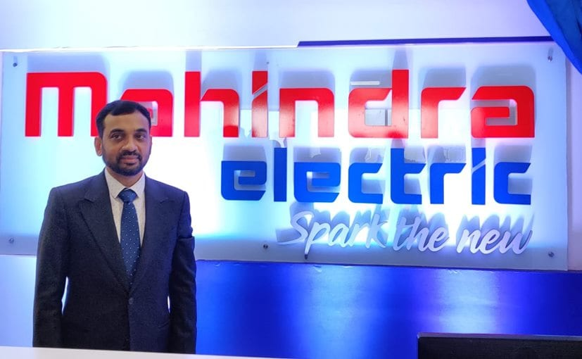Mahesh Babu, CEO, Mahindra Electric launching the new logo and tag line for the company