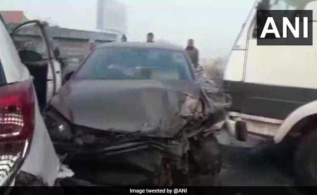 In Heavy Fog, Multi-Car Pile-Up On Rajasthan Highway