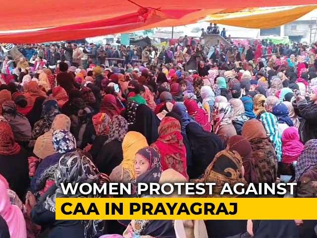 Video : 5000 Women On Dharna Against CAA & NRC In Prayagraj
