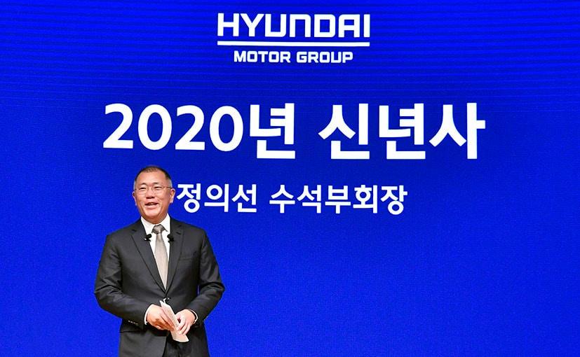 Euisun Chung, Executive Vice Chairman, Hyundai Motor Group at the 2020 New Year's address at company HQ