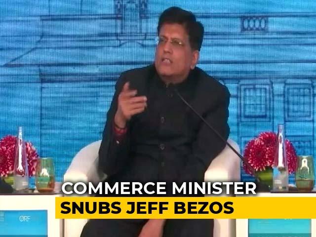 Video : Piyush Goyal's Tough Message To Amazon Founder Jeff Bezos