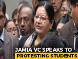 Video : Jamia Vice Chancellor Confronted By Students Demanding Case Against Delhi Police