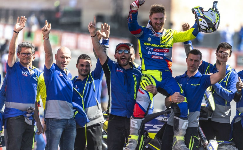 Adrien Metge with the Sherco TVS Rally Factory Team at Dakar 2020