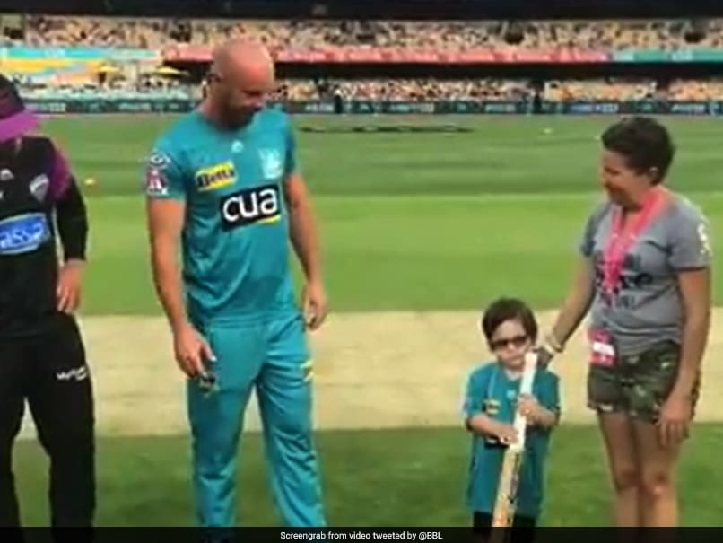 Five-Year-Old Suffering From Brain Cancer Does Bat Flip In BBL Match. Watch