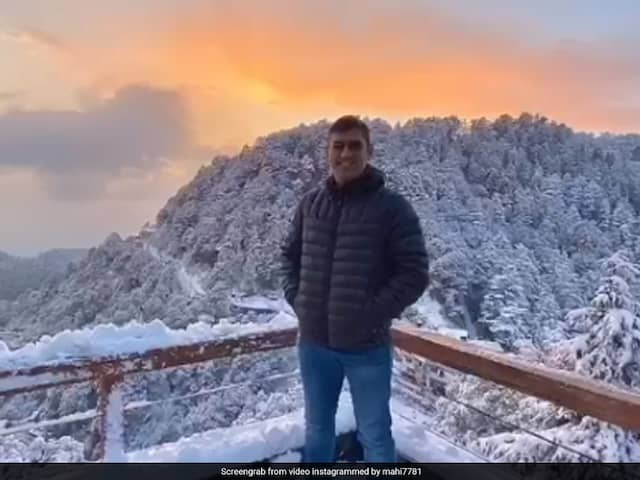 "Watch: MS Dhoni Enjoys ""First Snowfall Of 2020"" With Daughter Ziva And Wife Sakshi"