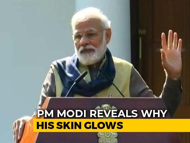 Video : PM Modi Reveals Why His Skin Glows