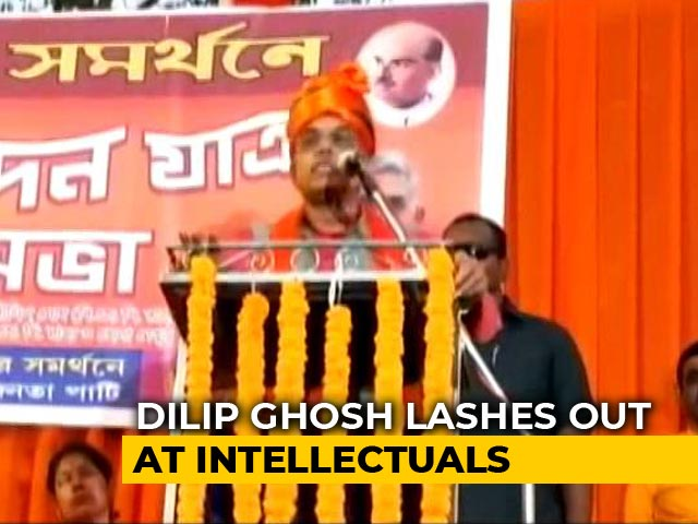 "Video : Bengal BJP Chief Dilip Ghosh Calls Intellectuals At Citizenship Law Protests ""Parasites"""
