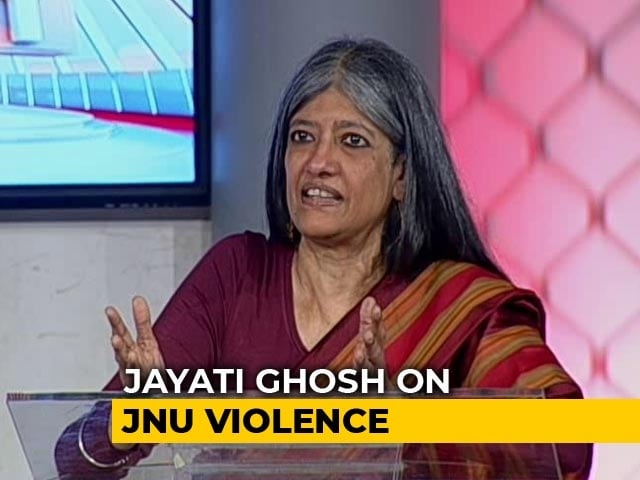 "Video : ""I Saw Some Faculty Members With Armed People"": JNU Professor Jayati Ghosh"