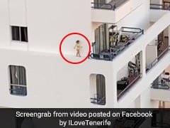 Viral Video: Child Runs On Narrow Fourth-Floor Ledge As Parents Shower
