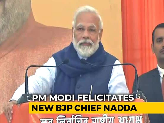 Video: Proud Moment, Says PM Modi On JP Nadda Taking Over As BJP Chief