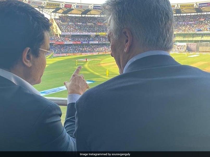 Fans get nostalgic as Sourav Ganguly, Steve Waugh reunite at Wankhede