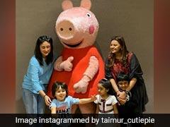 तैमूर अली खान Peepa Pig को देख लगे उछलने, तो मम्मी करीना कपूर बोलीं- पीछे देखो, पीछे...देखें Video