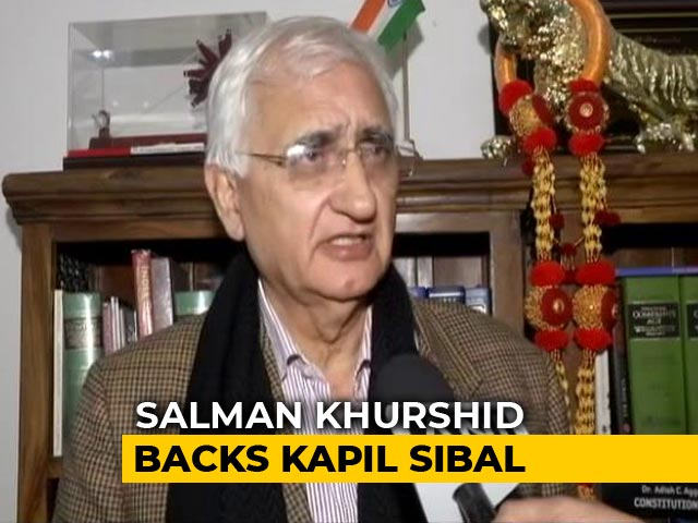 """Video : Kapil Sibal's CAA Statement Backed By Salman Khurshid: """"You Have To Obey"""""""