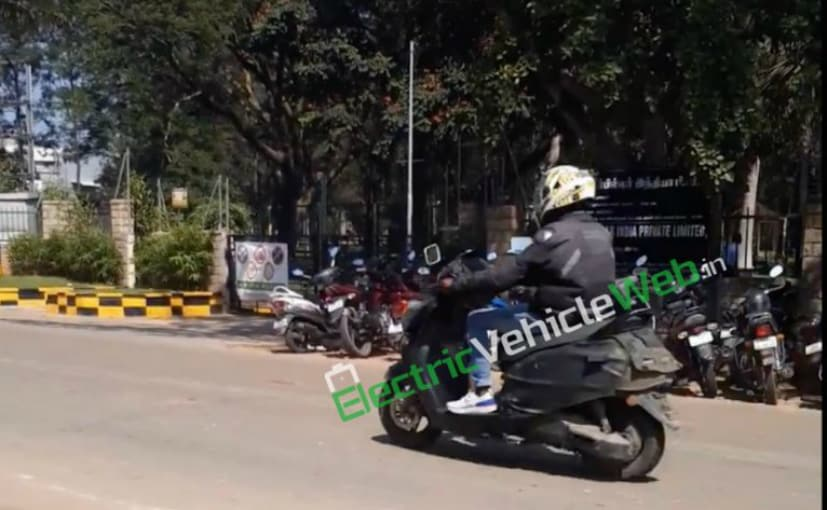 An upcoming TVS scooter, believed to be an electric scooter, has been spotted on test