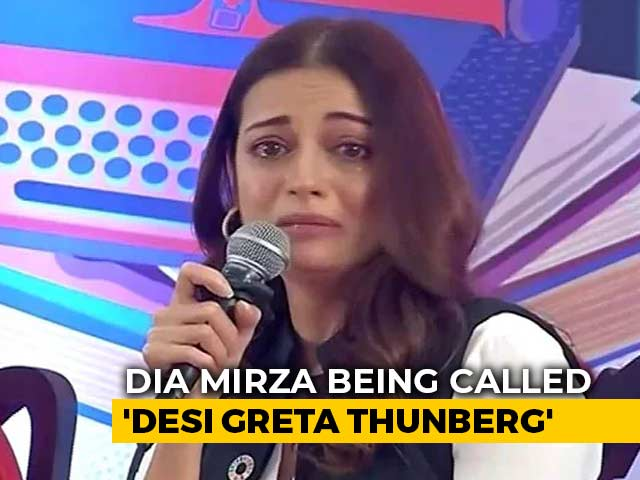 """Video : """"Desi Greta Thunberg"""": Actor Dia Mirza Trolled For Breaking Down At Event"""