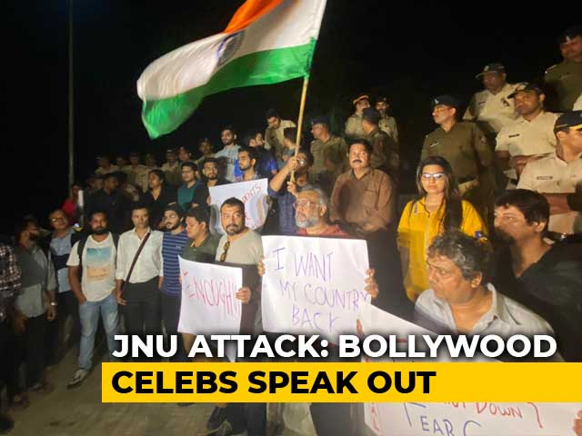 Video : Anurag Kashyap, Zoya Akhtar, Others Lead Mumbai Protest Over JNU Attack