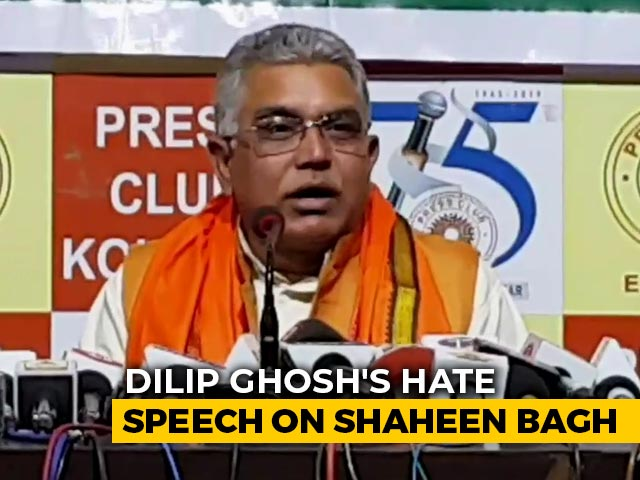 "Video : ""Many Died In Notes Ban Queues, Why Not Shaheen Bagh"": BJP's Dilip Ghosh"