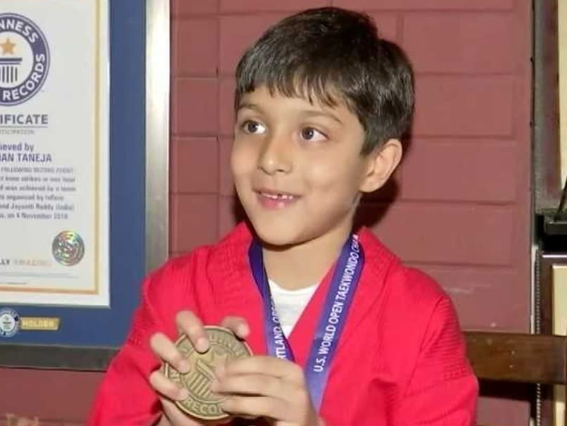 5-Year-Old Boy From Hyderabad Gets Guinness World Record In Taekwondo