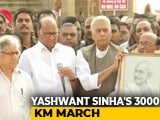 Video : Yashwant Sinha Launches 3,000-Km March From Mumbai To Delhi