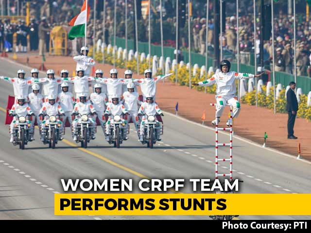 Video : All-Women CRPF Bike Contingent Makes Stellar Debut On 71st Republic Day