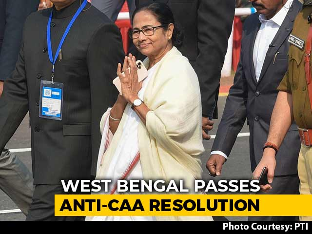 Video : Bengal Assembly Passes Anti-CAA Resolution, Fourth State To Do So