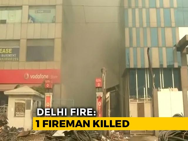 Video : Firefighter Killed After Explosion Brings Down Battery Warehouse In Delhi