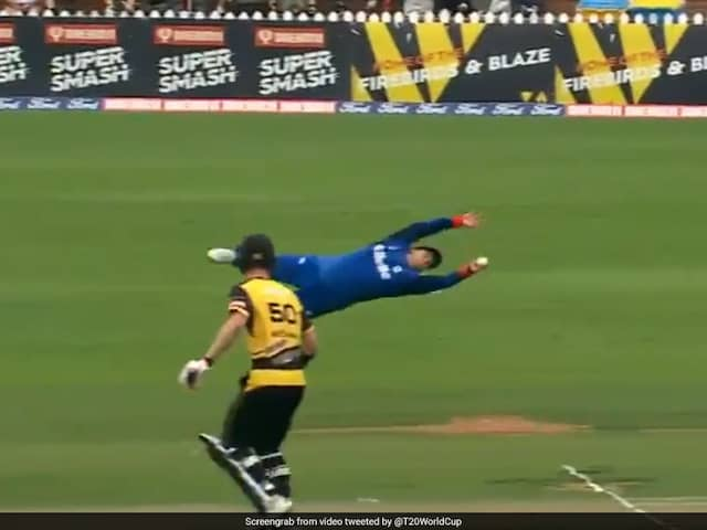 "Watch: New Zealand Cricketers One-Handed ""Flying"" Catch Is The Stuff Of Dreams"