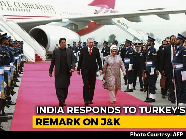 Video : Don't Interfere, Says India After Turkey President Speaks On J&K In Pak