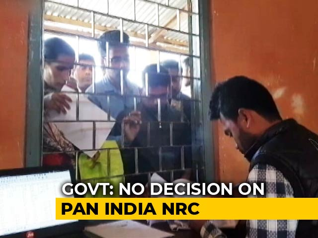 "Video : ""No Decision To Prepare NRC On National Level"": Government To Parliament"