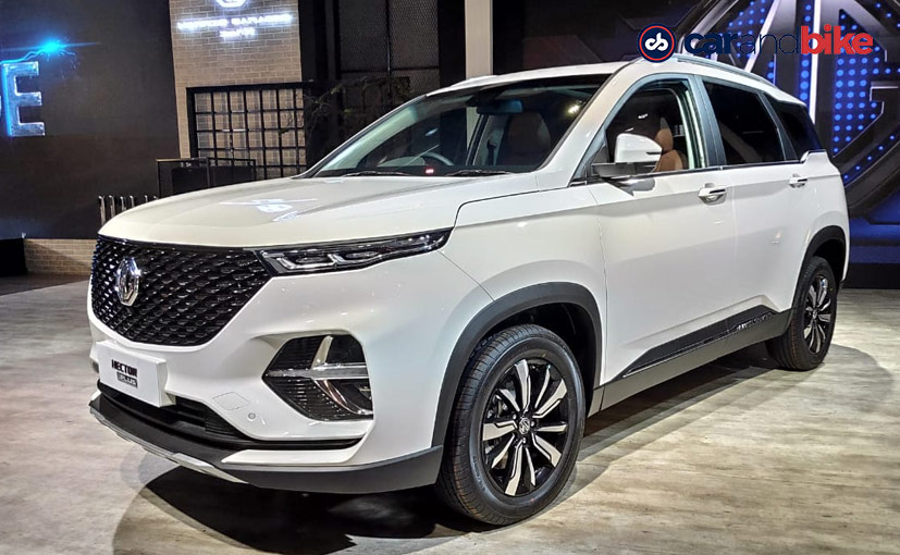 The three-row MG Hector Plus has made its global debut at the Auto Expo 2020.