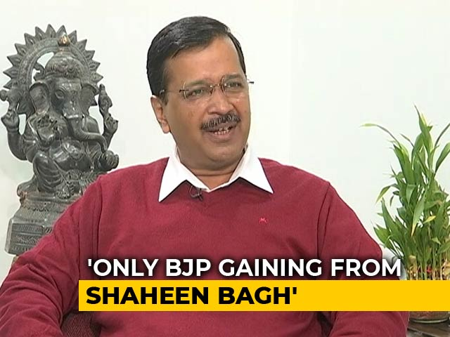 """Video : """"Amit Shah Wants To Fight Delhi Polls On Shaheen Bagh"""": Arvind Kejriwal"""