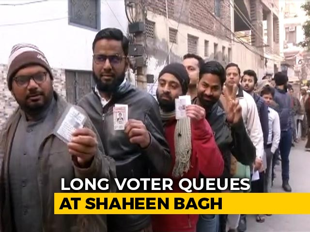 Video : Long Voter Queues At Delhi's Shaheen Bagh, Epicentre Of Anti-CAA Campaign