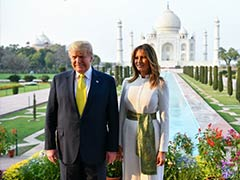 "Hand-In-Hand, Trumps Tour Taj Mahal, Say ""It Inspires Awe"""