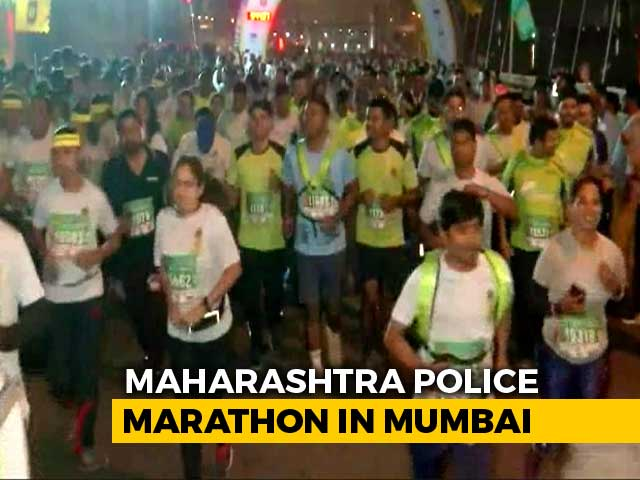 Video : First Maharashtra Police Marathon In Mumbai
