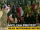 Video : Women Gather Near Delhi's Jaffrabad Metro Station To Protest Against CAA, NRC